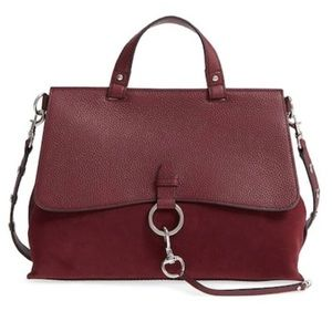 Rebecca Minkoff Med. Keith suede & leather satchel
